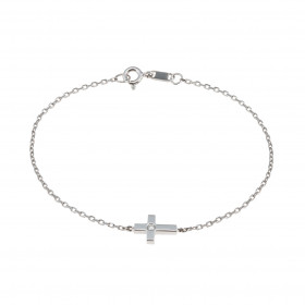 Pulsera cruz diamante